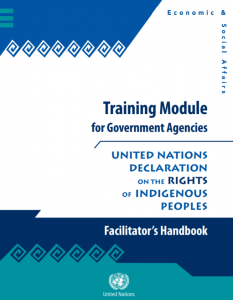 Training Module for Government Agencies. Facilitator's Handbook