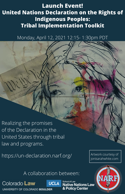 Flyer for the Tribal Implementation Toolkit Launch - April 12, 2021